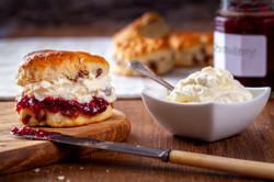 Scones with Strawberry Jam and Clotted C
