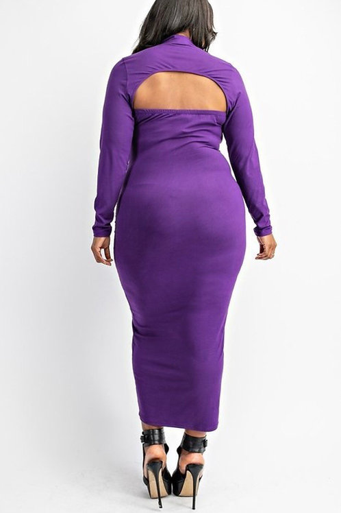 Purple Bodycon Maxi