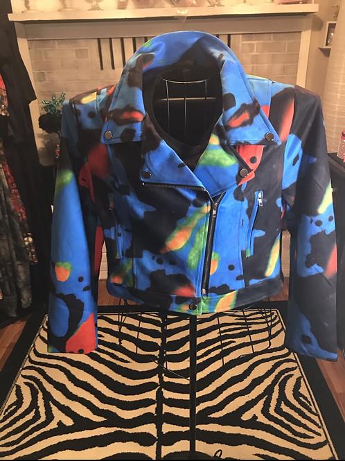 Faux Suede Multi-Color Jacket