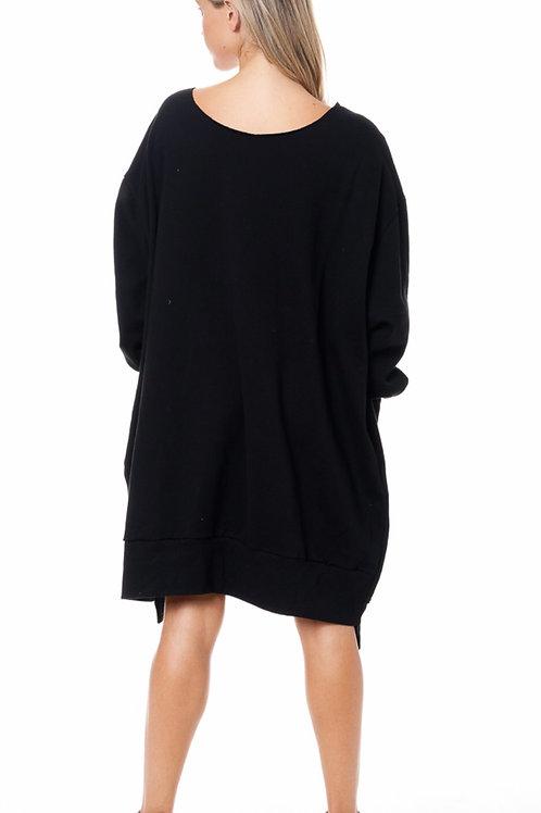 Oversized Tiger Sweatshirt Dress