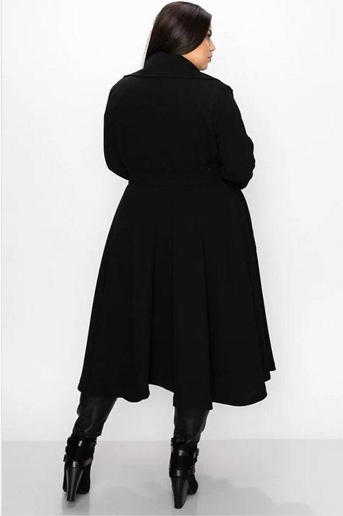 Black Full Flare Coat/Jacket