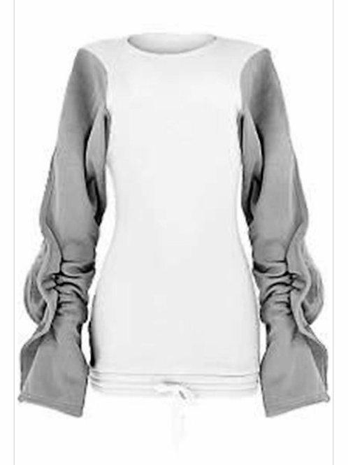 Puff Sleeve Sweatshirt Dress