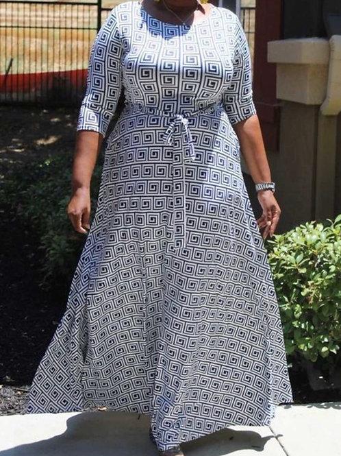 Blocked Maxi Dress