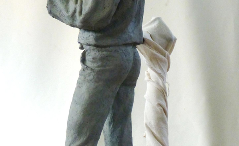 Victorian school boy maquette