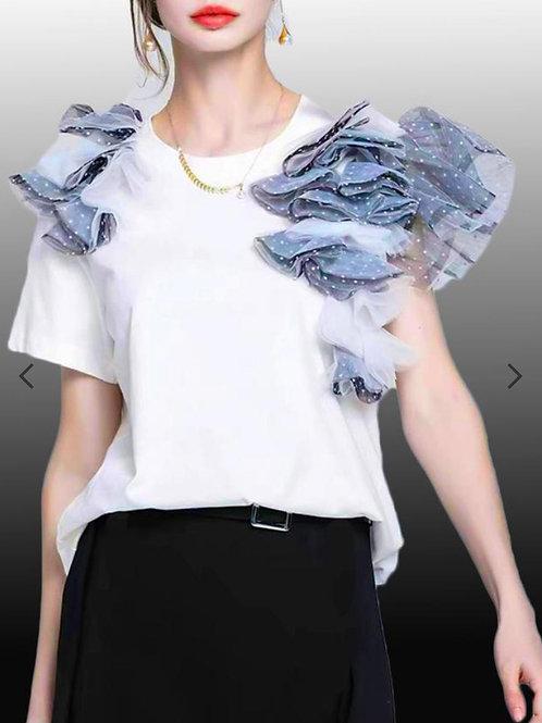 White Tulle T-Shirt