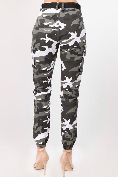 B/W Camouflage Pants