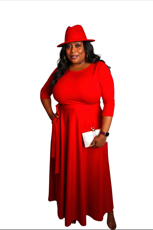 Red Hott Maxi Dress w/pockets