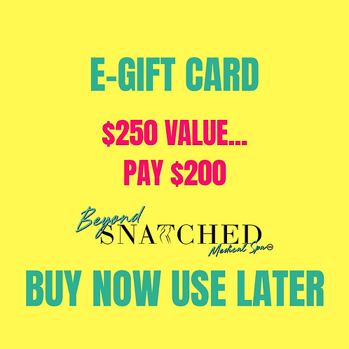 $250 E-Gift Card for $200