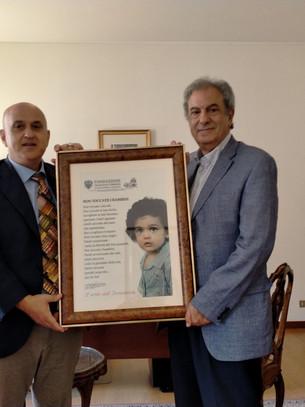 La solidarietà lascia il segno: Francesco Terrone ricevuto dall'Ambasciatore del Libano
