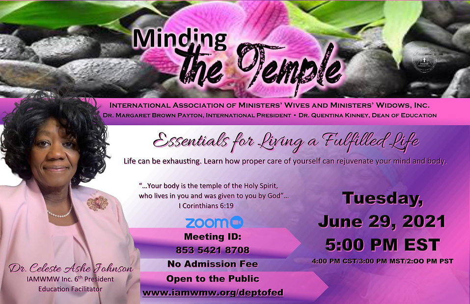 Minding the Temple Flyer - IAMWMW Dept o