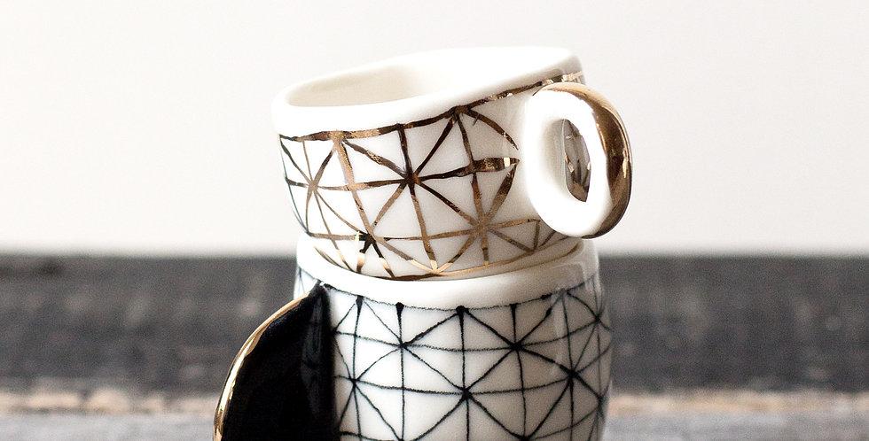 Espresso Cups- Polka Dot - Set of 2