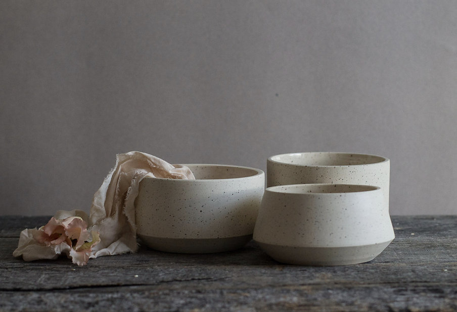 geometric rustic bowls