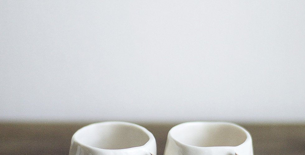 Espresso Cups - White & Gold / Set of 4