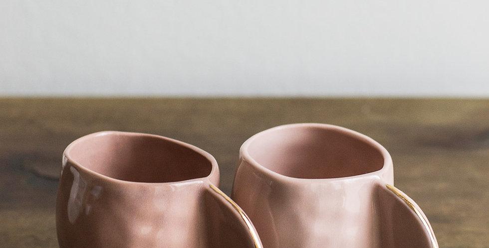 Espresso Cups - Blush Porcelain & Gold - Set of 4
