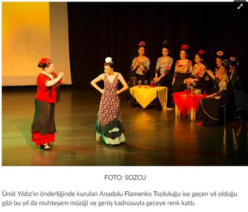 azulmavi flamenko kursu gösteri