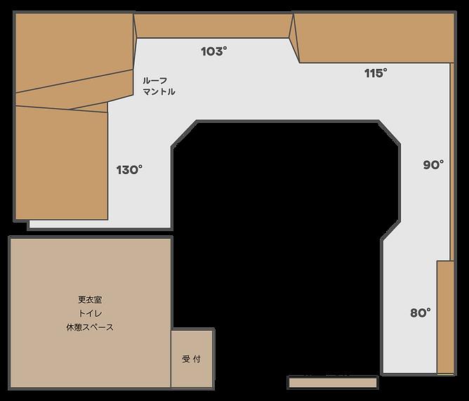 カルマクライミングジム室内図