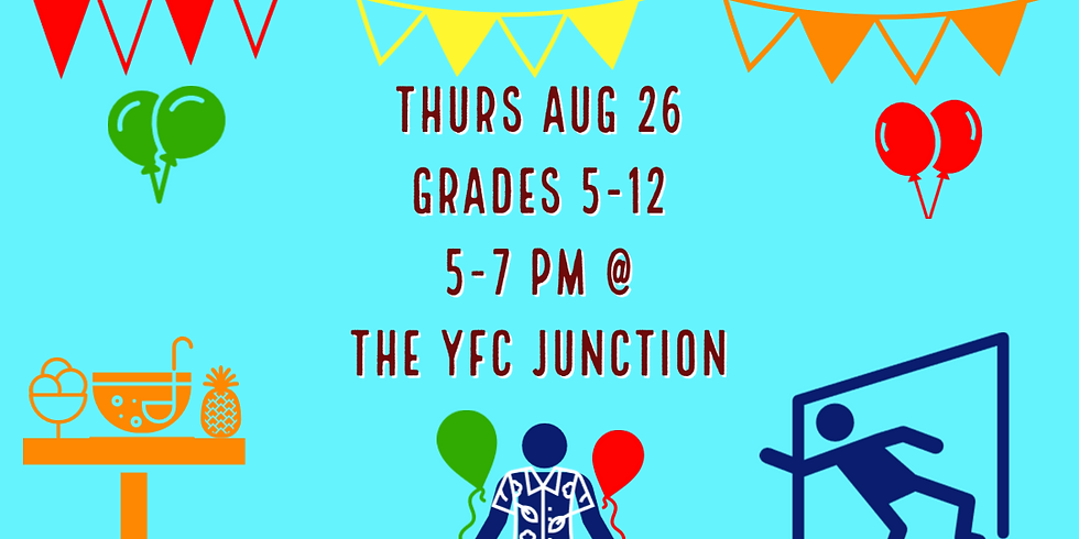 YFC Campus Life Shin-Dig: Summer's End Party!