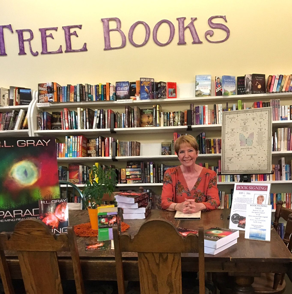 Signing at Purple Tree Books - R.L. Gray