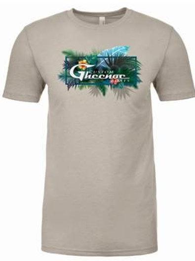 Custom Gheenoe Beige Aloha Logo Tee