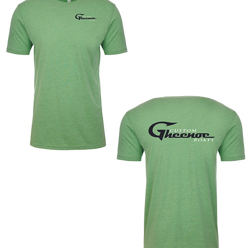 Custom Gheenoe Boats - Green Cotton T-shirt