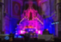 LED Uplighter Hire Gala Dinner Wedding Conference Event Ball Worship Church
