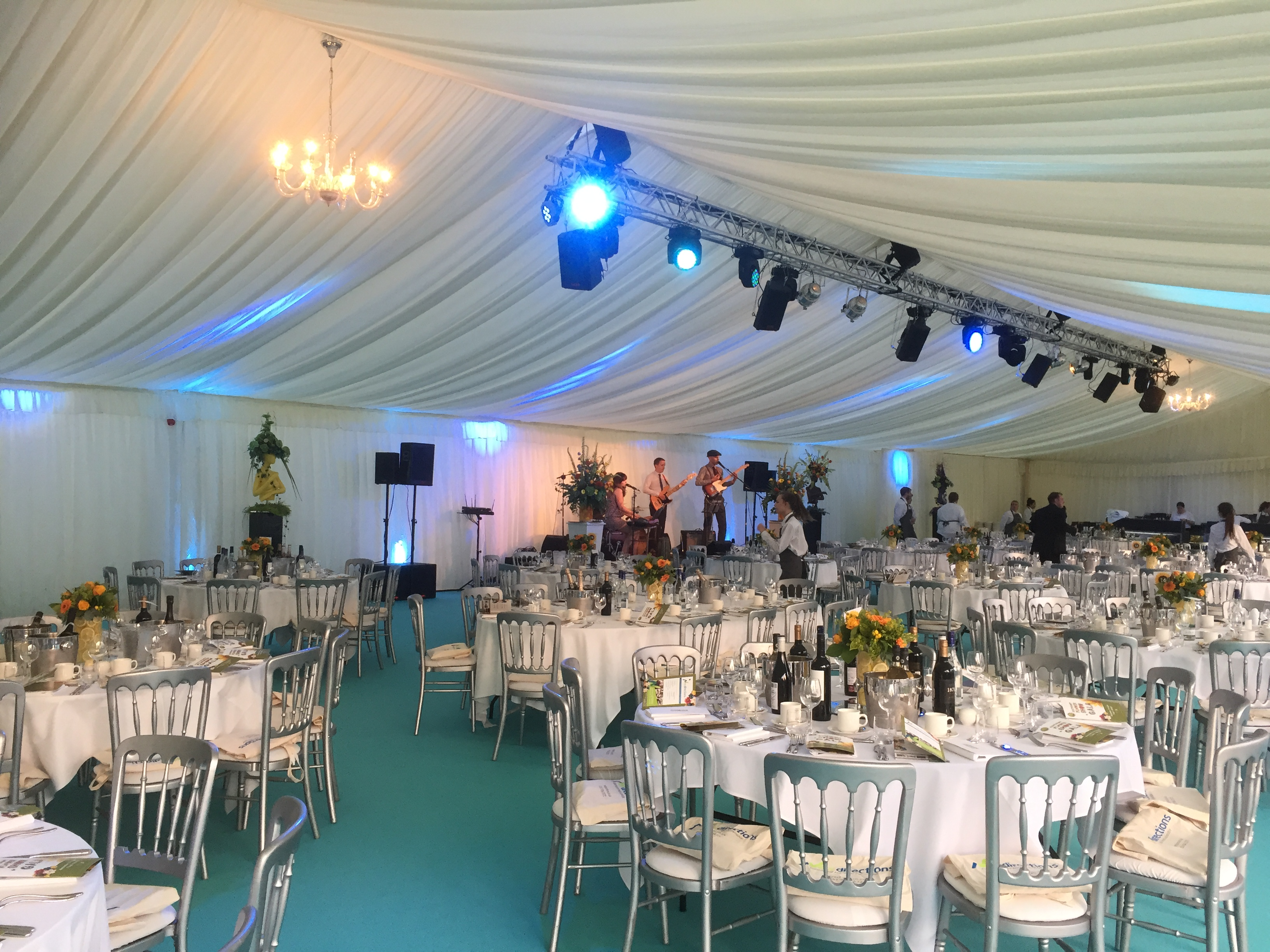 TMS AV HIRE Gala Dinner Equipment