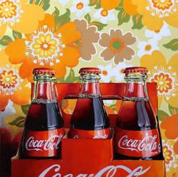 Six pack of Coca-Cola