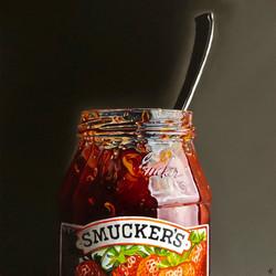 Dirty Smucker's Jar