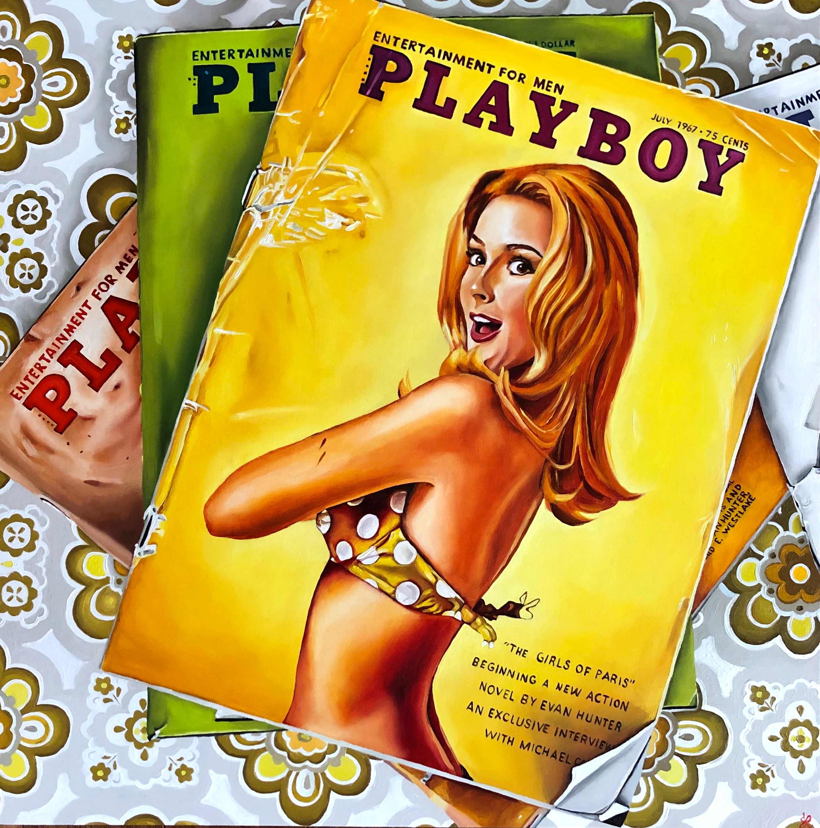Stack of Vintage Playboy (Left Panel)