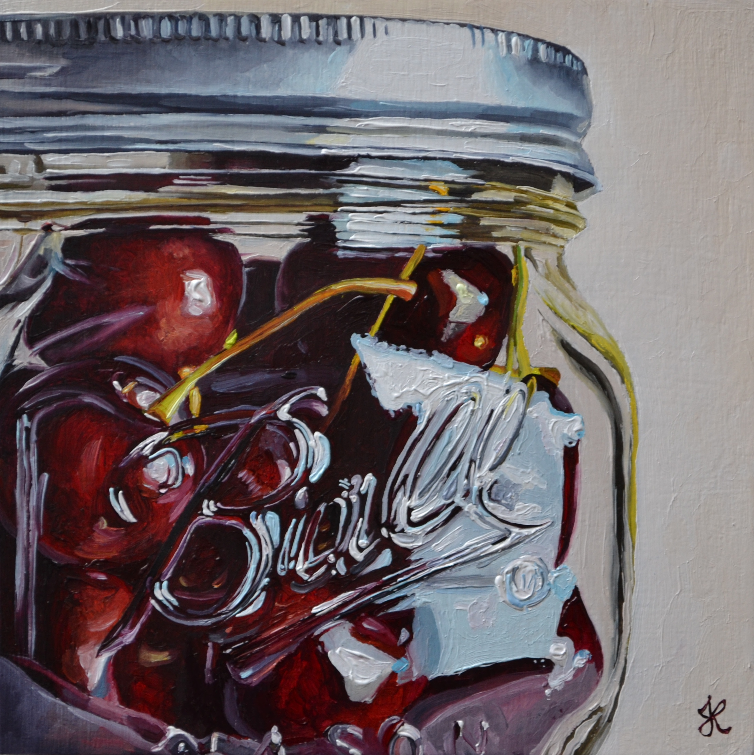 Cherries in a Ball Jar