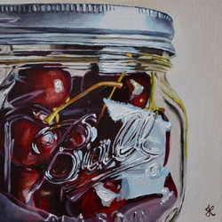 Cherries in a Ball Jar