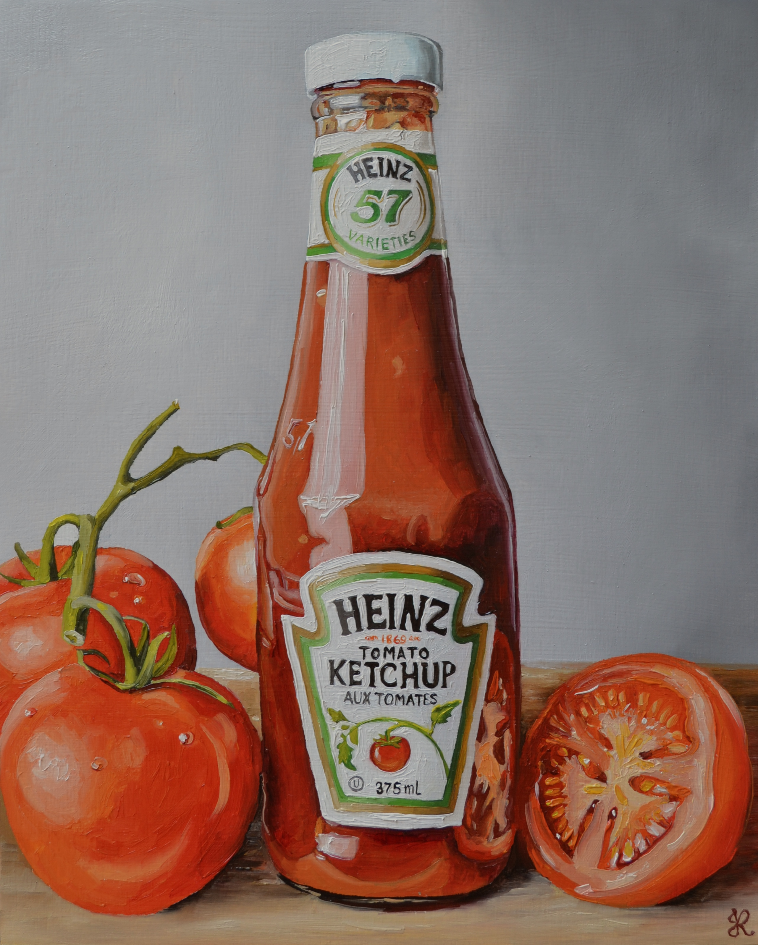 Ketchup and tomatoes
