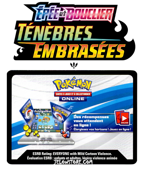 Code Online Pokémon - 1x booster [EB03 TENEBRES EMBRASEES]