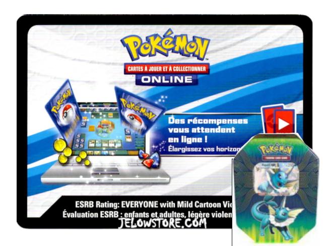 Code Online Pokémon - 1x Pokébox Aquali-GX