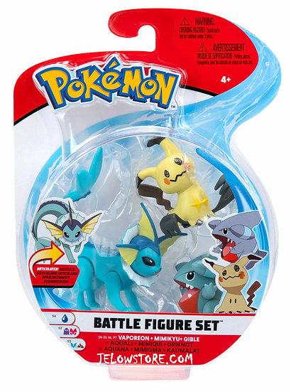 Pokémon [Battle Figure Set]: Aquali + Mimiqui + Griknot