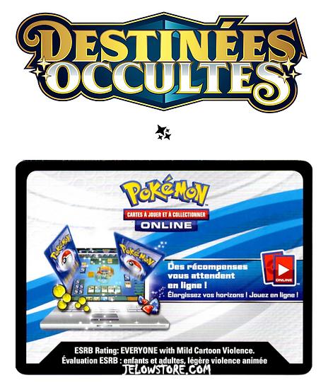 Code Online Pokémon - 1x booster [SL11.5 - DESTINÉES OCCULTES]