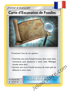 CARTE D'EXCAVATION DE FOSSILES 107/131 FR [SL6 LUMIERES INTERDITES]
