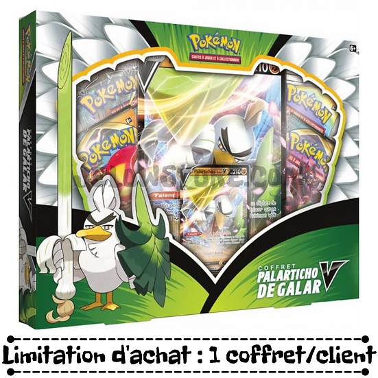Coffret Pokémon 4 boosters [PALARTICHO DE GALAR-V] FR