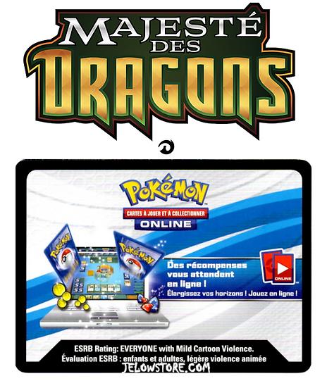 Code Online Pokémon - 1x booster [SL7.5 - MAJESTÉ DES DRAGONS]