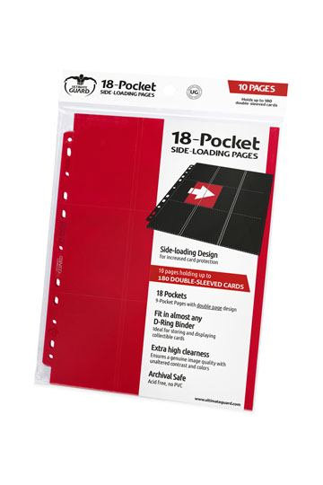 18-Pocket Side-Loading Pages (x10) - Rouge [Ultimate Guard]