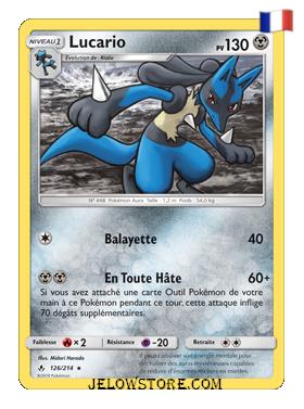 Carte Pokémon Lucario holographique SL10 Alliance Infaillible 126/214