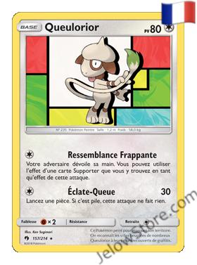 QUEULORIOR 157/214 FR SL8 TONNERRE PERDU carte pokémon