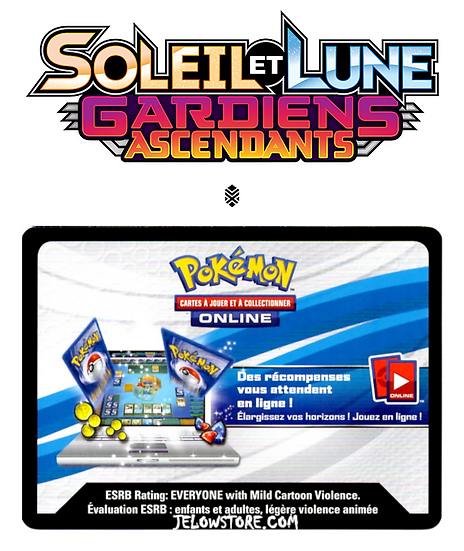 Code Online Pokémon - 1x booster [SL2 - GARDIENS ASCENDANTS]