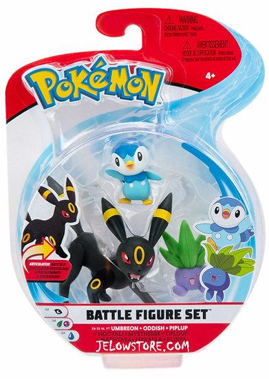 Pokémon [Battle Figure Set]: Noctali + Tiplouf + Mystherbe