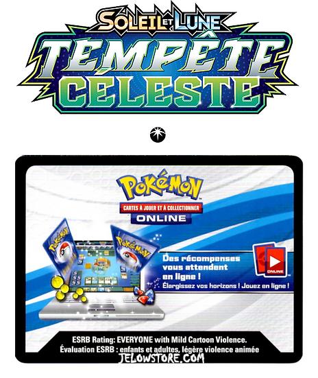 Code Online Pokémon - 1x booster [SL7 - TEMPÊTE CÉLESTE]