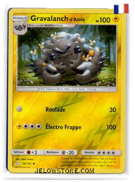 Carte Pokémon Gravalanch reverse Fr 36/181 SL9 Duo de Choc