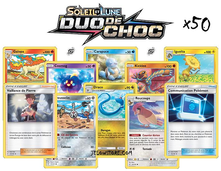 LOT: x50 cartes Pokémon FR [SL9 Duo de Choc]
