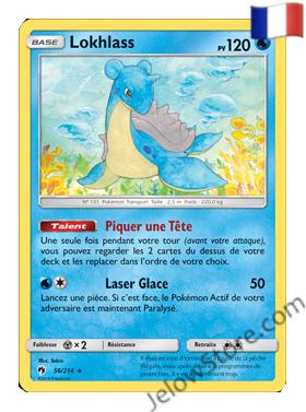 LOKHLASS  56/214 FR SL8 TONNERRE PERDU carte pokémon