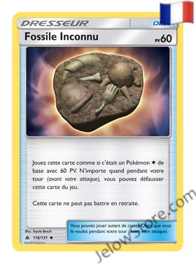FOSSILE INCONNU 116/131 FR [SL6 LUMIERES INTERDITES]