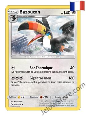 BAZOUCAN 166/214 FR SL8 TONNERRE PERDU carte pokémon